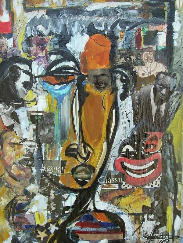 Culture Art Print featuring the painting Classic by Hasaan Kirkland