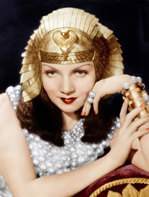 1930s Movies Art Print featuring the photograph Cleopatra, Claudette Colbert, 1934 by Everett