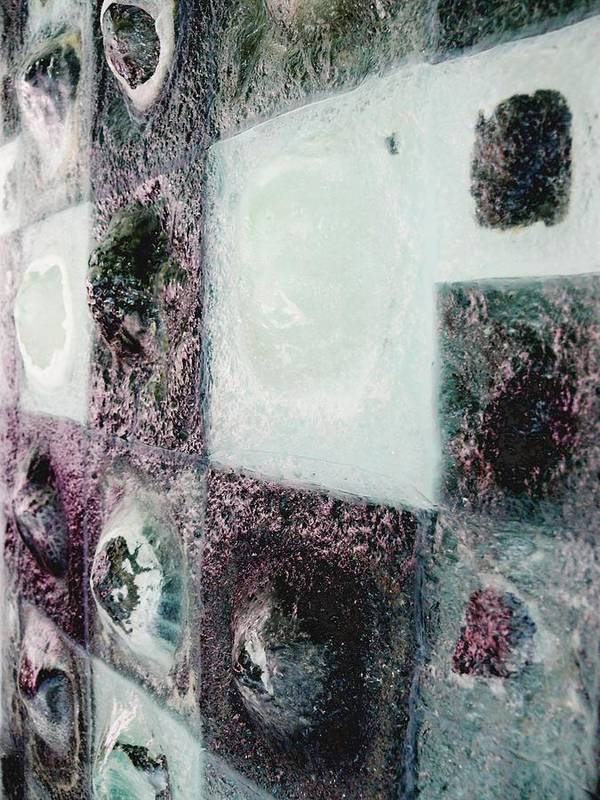 Newspaper Art Print featuring the sculpture close up of Country Hills panel 5 by Sarah King