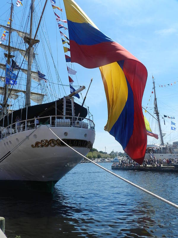 Ship Art Print featuring the photograph Colombian Tall Ship by Genevieve Keillor