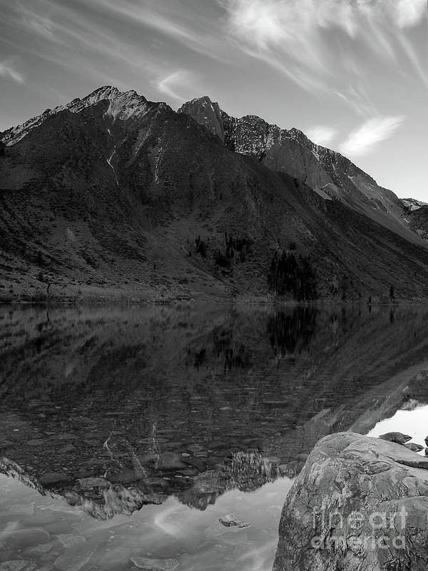 Monotone Art Print featuring the photograph Convict Lake by Chris Morrison