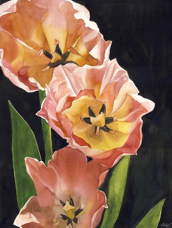 Coral In Spring Art Print featuring the painting Coral In Spring by Alfred Ng