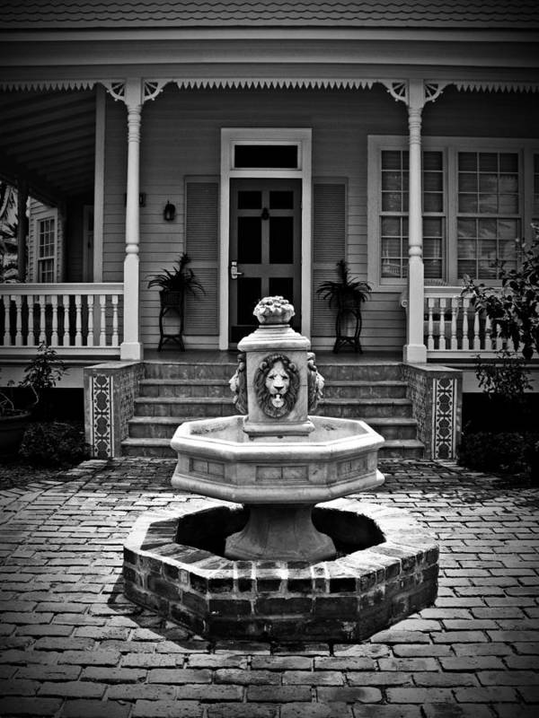 Courtyard Art Print featuring the photograph Courtyard Fountain by Perry Webster