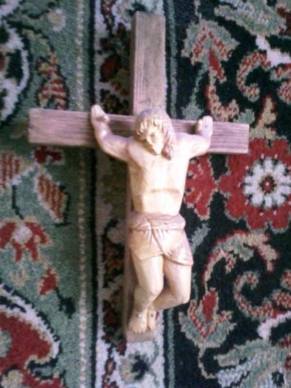 Crucifix Art Print featuring the sculpture Crucifix by Artyom Ukhov