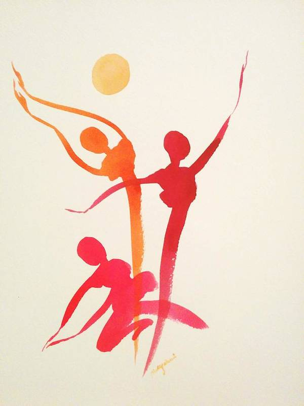 Art Print featuring the painting Dance Of Joy by Priti Gokani