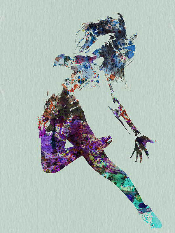 Dancer Art Print featuring the painting Dancer Watercolor by Naxart Studio