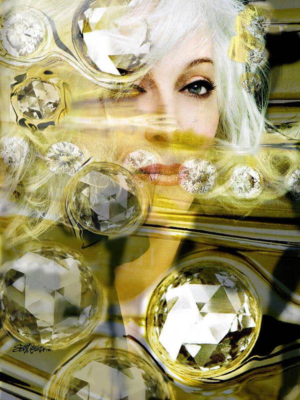 Women Art Print featuring the digital art Darling Diamonds by Seth Weaver