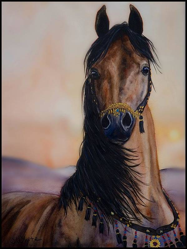 Art Print featuring the painting Dauntless by Jennifer White