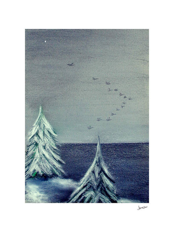Winter Art Print featuring the painting December Dawn by Gary Jameson
