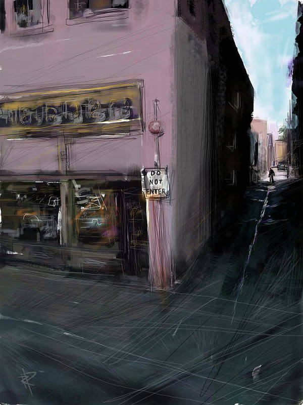 Alley Art Print featuring the mixed media Do Not Enter by Russell Pierce