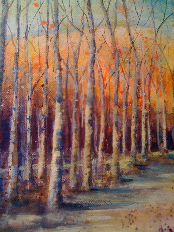 Nature Art Print featuring the painting Dowry Trees by KC Winters
