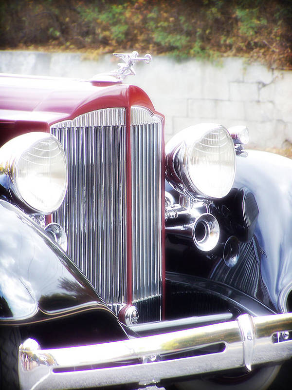 Antique Car Art Print featuring the photograph Dream Boat by Catherine Utschig