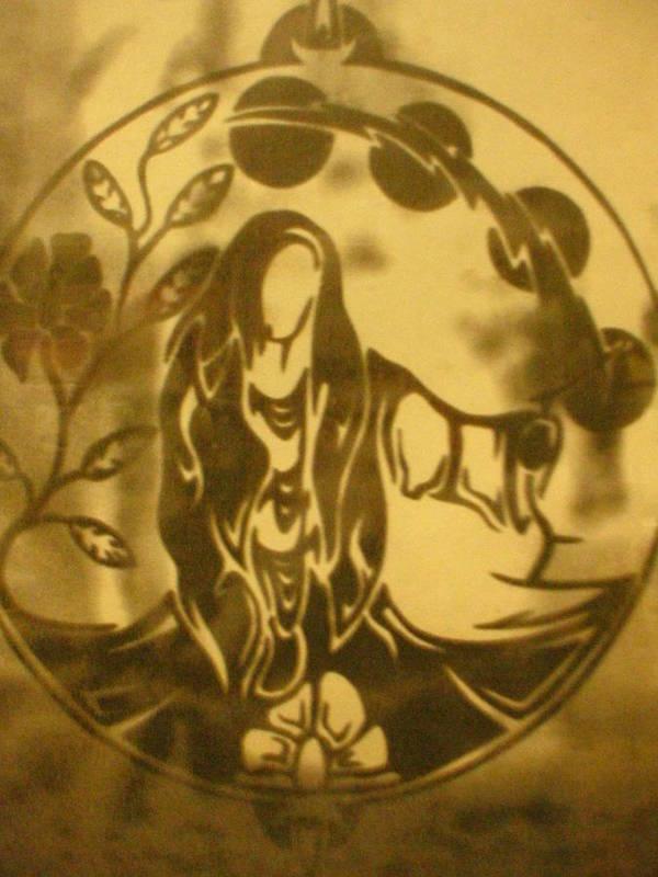 Alchemy Print featuring the glass art Earth Woman by Austen Brauker