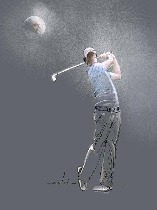 Golf Art Print featuring the painting Eclipse by Miki De Goodaboom