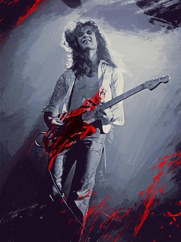 Eddie Van Halen Art Print By Afterdarkness