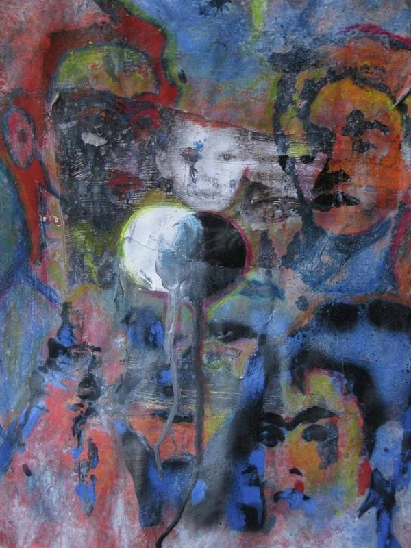 Art Print featuring the painting El Nino by Socrates Marquez