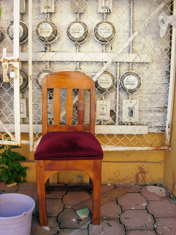 Mexico Art Print featuring the photograph Electric Chair by Robert Boyette