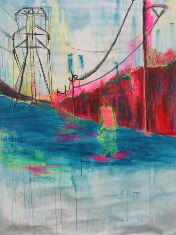 Man Art Print featuring the painting Electric Feel by Moby Kane