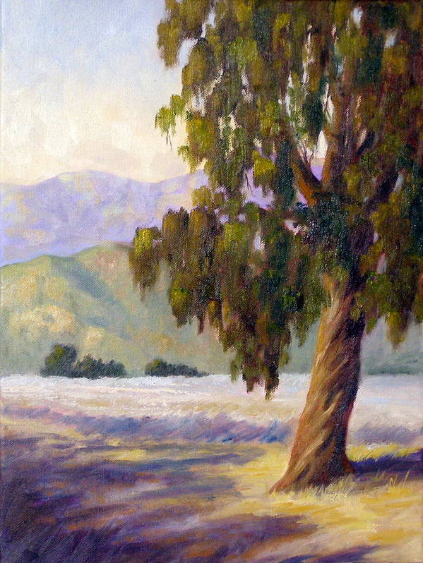 Tree Art Print featuring the painting Eucalyptus Sentinel by Dorothy Nalls
