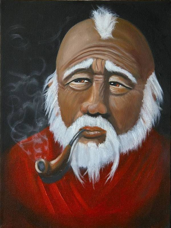 People Art Print featuring the painting Face Of Asia by Joni McPherson