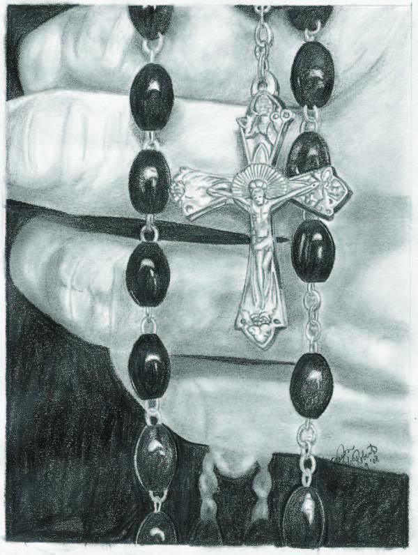 Faith Art Print featuring the drawing Faith by Jason McRoberts