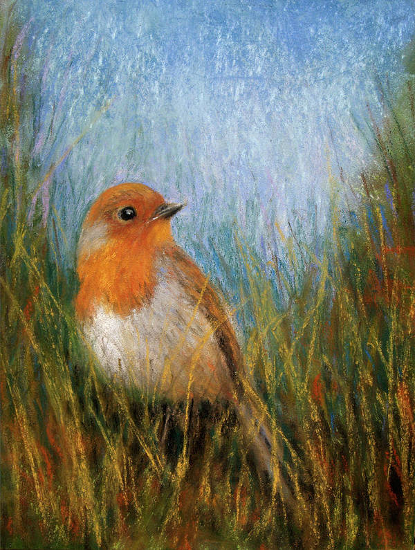 Paintings Art Print featuring the pastel Fall Bird by Susan Jenkins