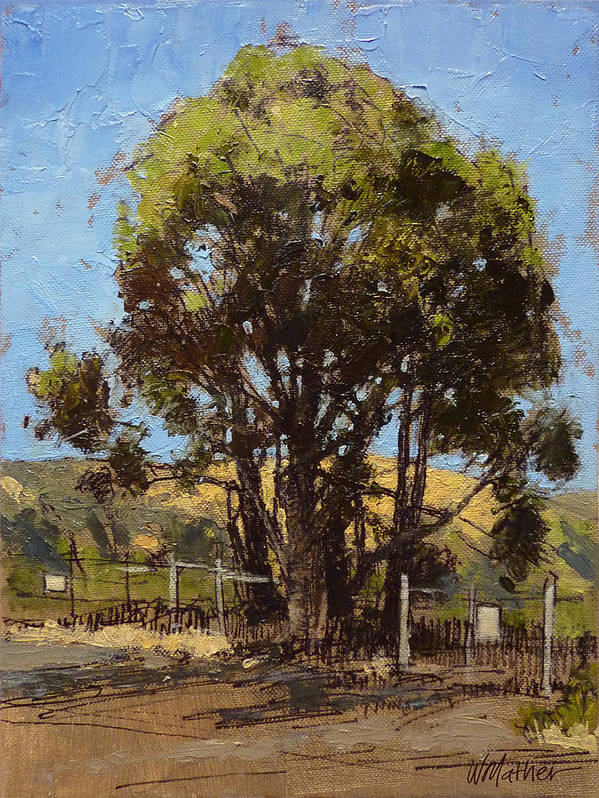 Sunlit Tree Art Print featuring the painting Ferry Point by Bill Mather