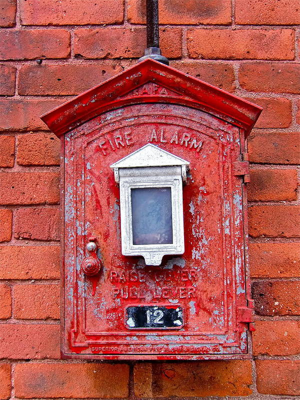 Fire Box Art Print featuring the photograph Fire Alarm Box No. 12 by Richard Mansfield