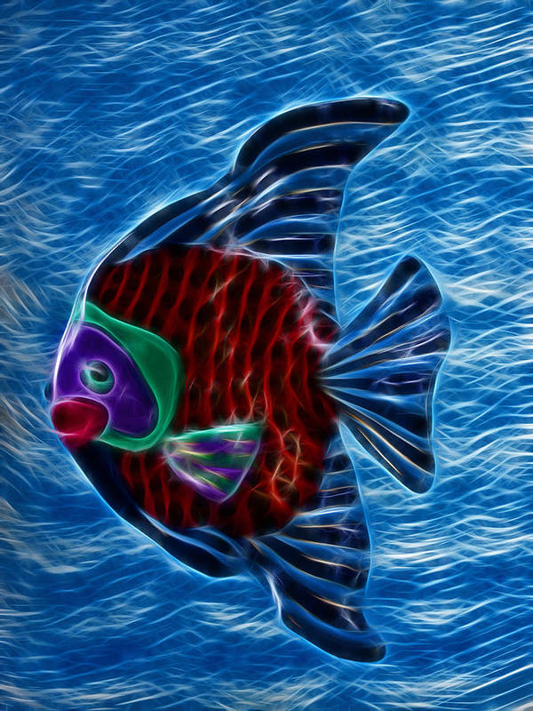 Fish Art Print featuring the photograph Fish In Water by Shane Bechler