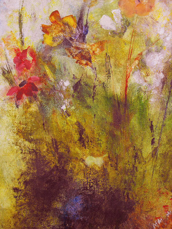 Botanical Art Print featuring the painting Flora by Ruth Palmer