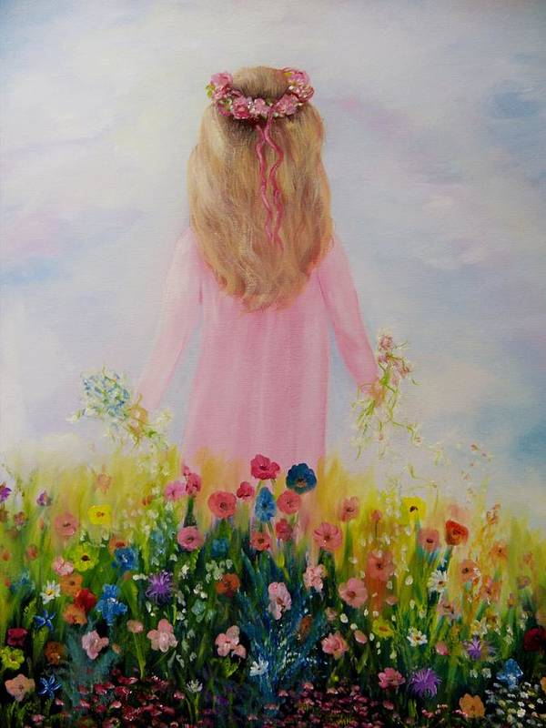 Oil Art Print featuring the painting Flower Dream by Joni McPherson
