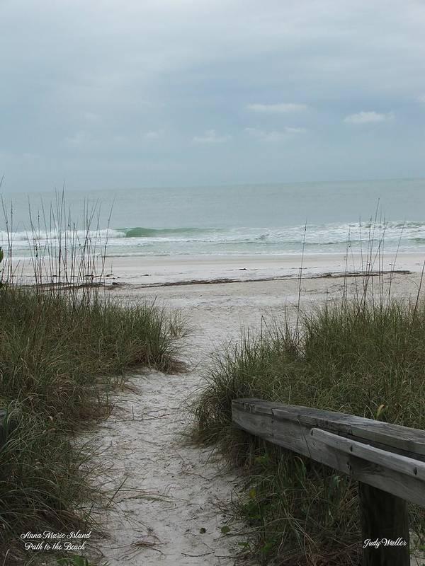 Beach Art Print featuring the photograph Follow The Path by Judy Waller
