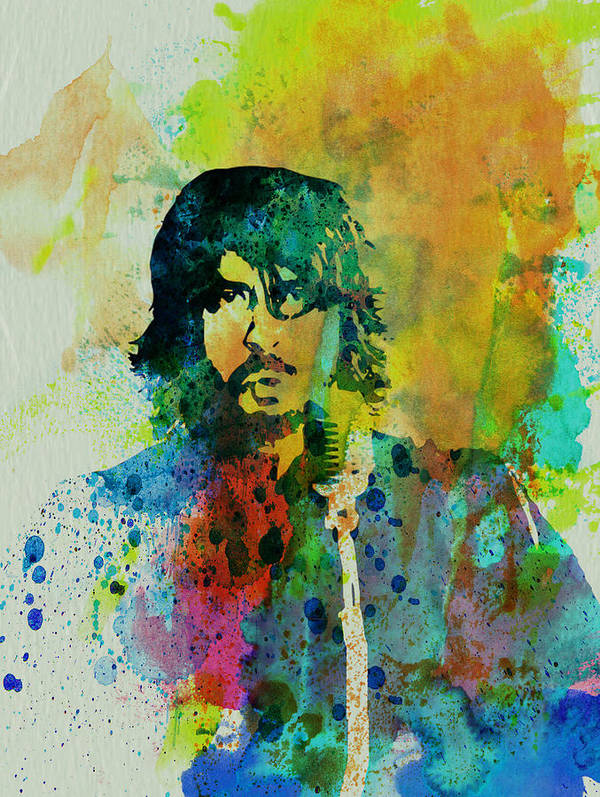 Foo Fighters Art Print featuring the painting Foo Fighters by Naxart Studio