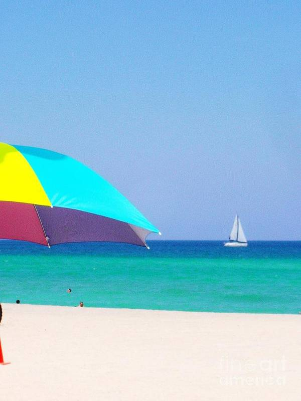 Beach Art Print featuring the photograph Fort Lauderdale Beach by Allan Einhorn