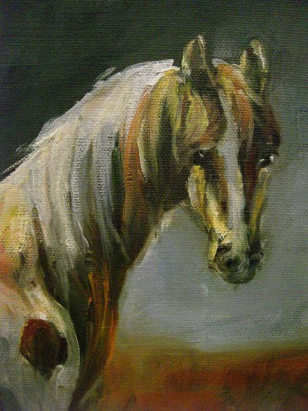 Horse Art Print featuring the painting Freedom by Nancy Atherton Cheadle