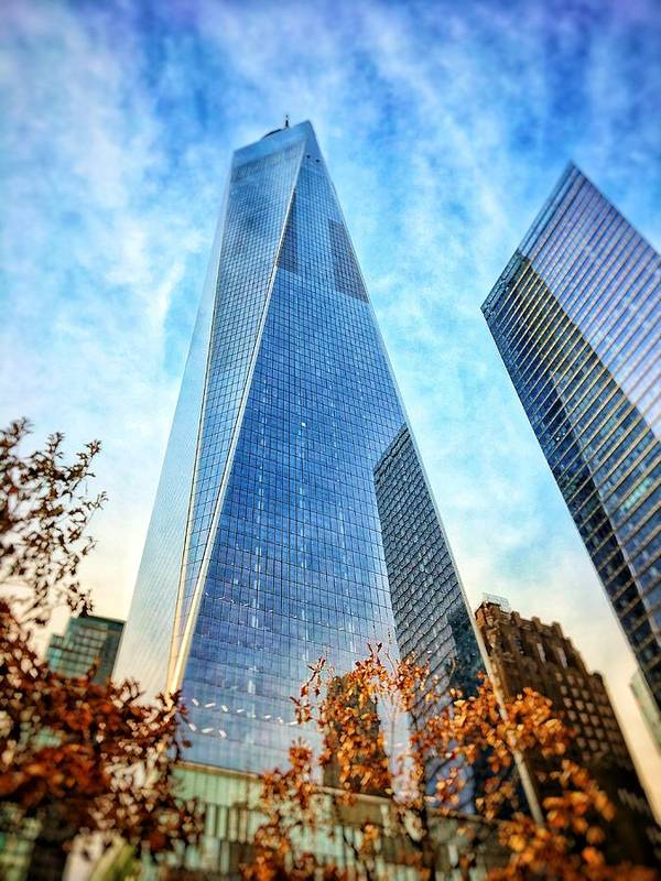 Freedom Tower New York City Concrete Jungle Urban Life Art Print featuring the photograph Freedom Tower by Brandon Stevens