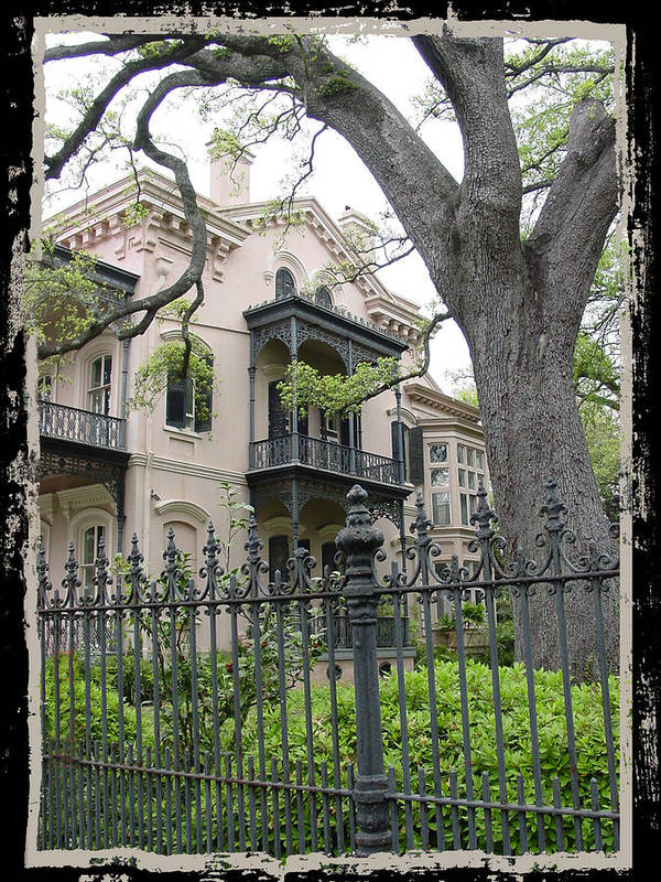 New Orleans Art Print featuring the photograph Garden District House by Linda Kish