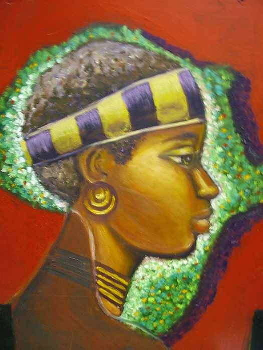 Gem Of Africa Art Print featuring the painting Gem Of Africa by Jan Gilmore