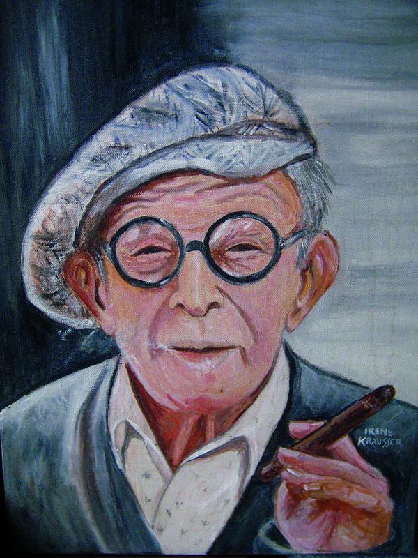 Celebrity Art Print featuring the painting George Burns by Irene Schilling