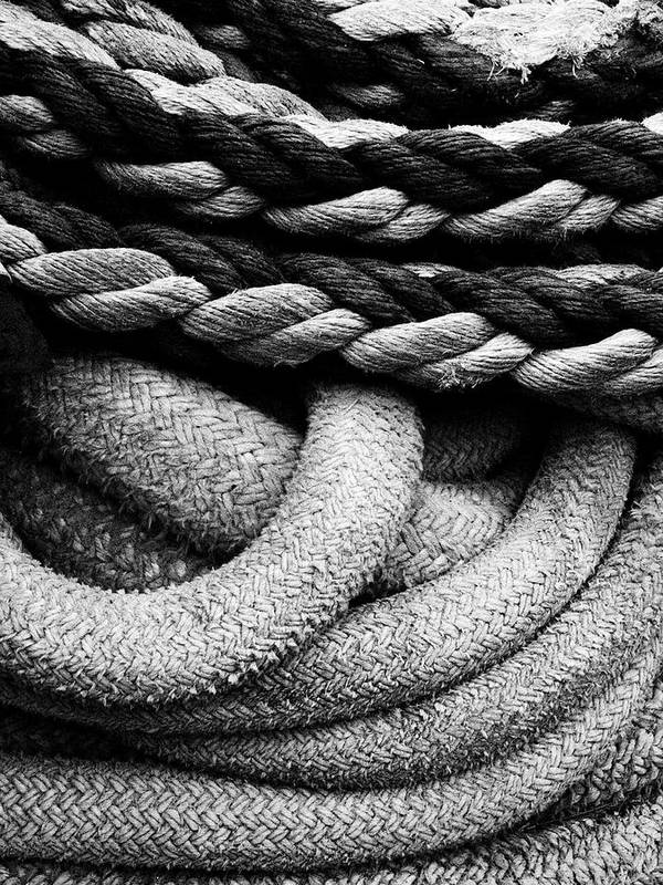 Give Them Some Rope Art Print featuring the photograph Give Them Some Rope by Skip Hunt