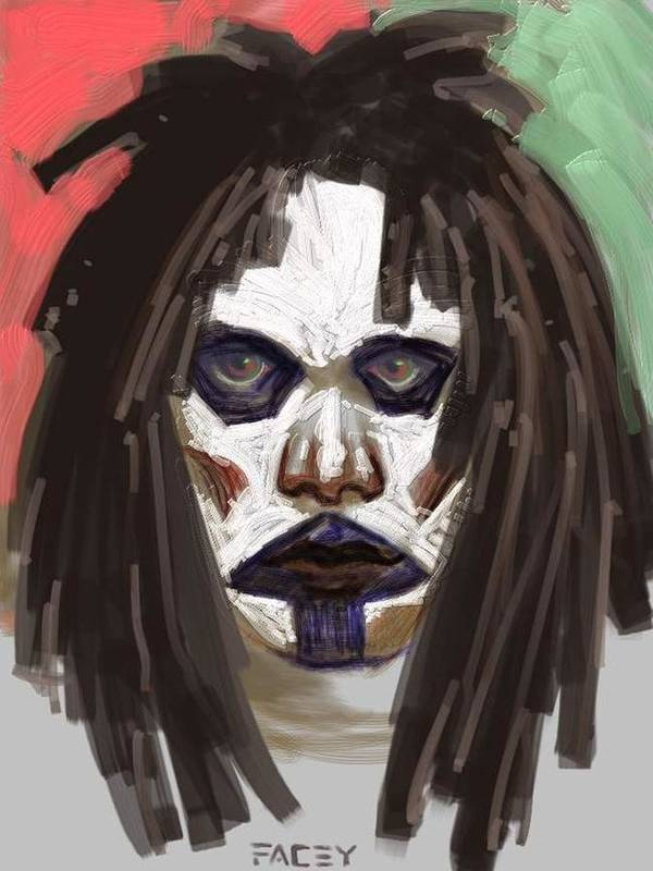 Portrait Art Print featuring the painting Gothic Dread by Michael Facey