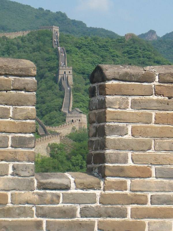 Landscape Art Print featuring the photograph Great Wall From A Tower by Angela Siener