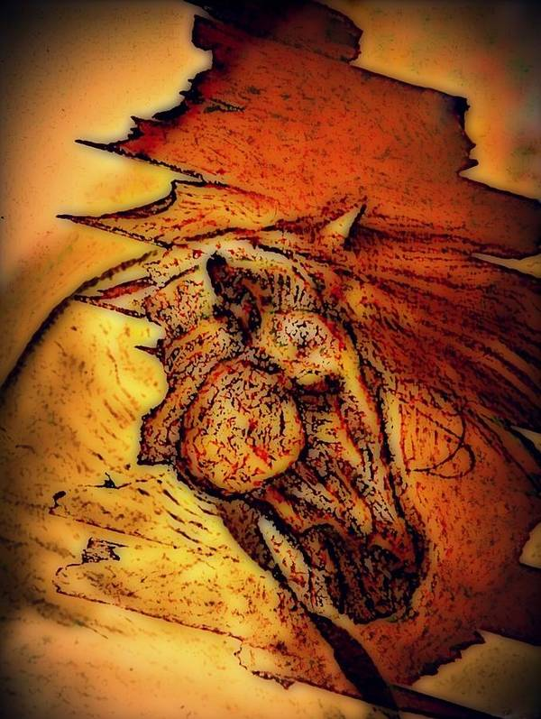 Greek Horse Art Print featuring the digital art Greek Horse by Paulo Zerbato
