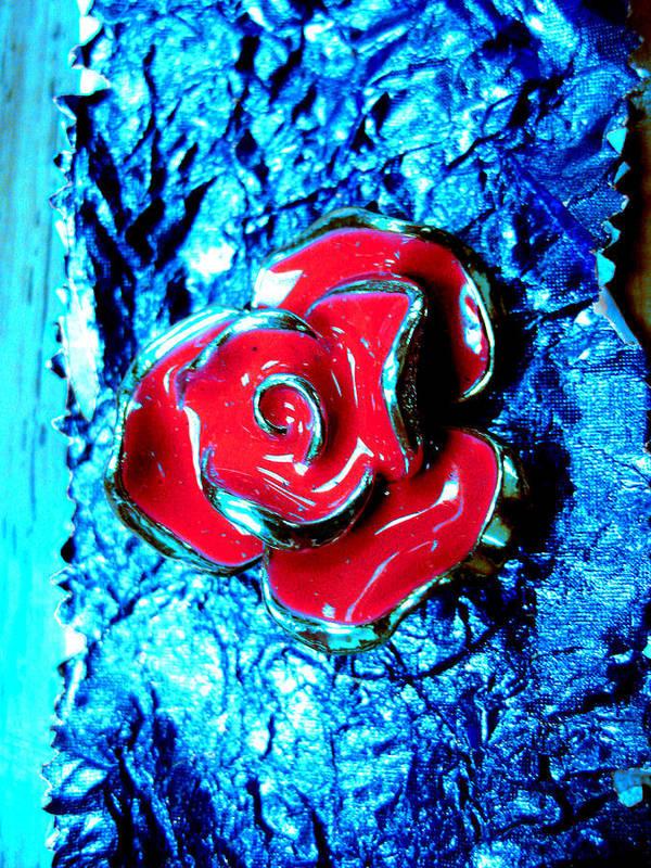 Gum Wrapper Art Print featuring the photograph Gum Wrapper - Blue by Anna Thomas