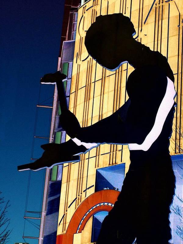Seattle Art Print featuring the digital art Hammering Man by Tim Allen
