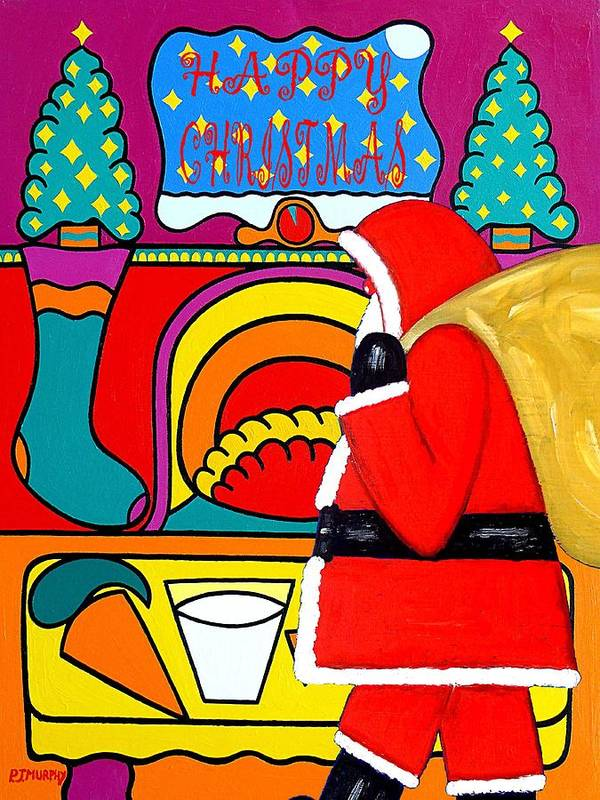 Christmas Print featuring the painting Happy Christmas 30 by Patrick J Murphy
