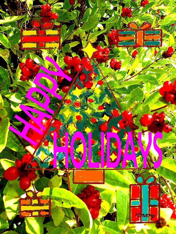 Cchristmas Art Print featuring the painting Happy Holidays 9 by Patrick J Murphy