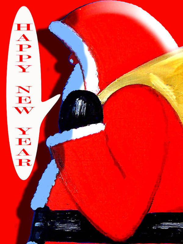Christmas Art Print featuring the painting Happy New Year 4 by Patrick J Murphy