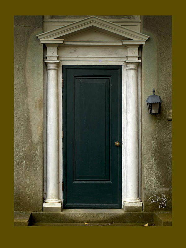 New England Architecture Art Print featuring the photograph Harkness Doorway by Paul Gaj