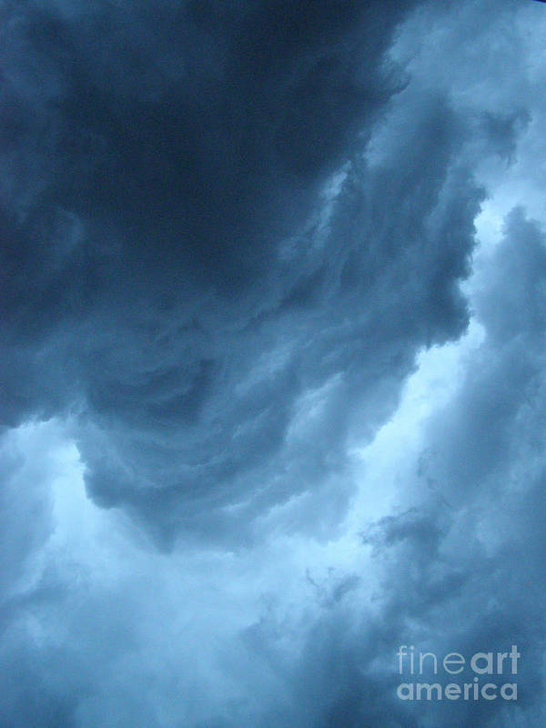 Storm Art Print featuring the photograph Head For Cover by Angie Rea